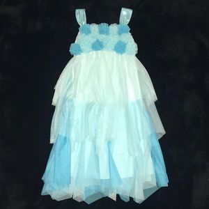 Little Girl's Biscotti Shades of Blue Dress